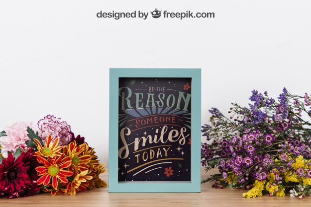 Inspirational Frame Plus Flowers