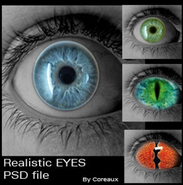 Colorful Realistic Eyes
