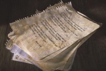 Free Torn Old Paper Scene Mockup in PSD