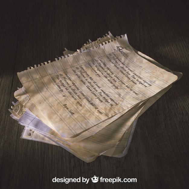 Torn Old Paper Scene