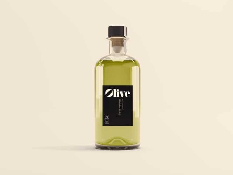 Download Download This Free Olive Oil Bottle Mockup - Designhooks Free Mockups