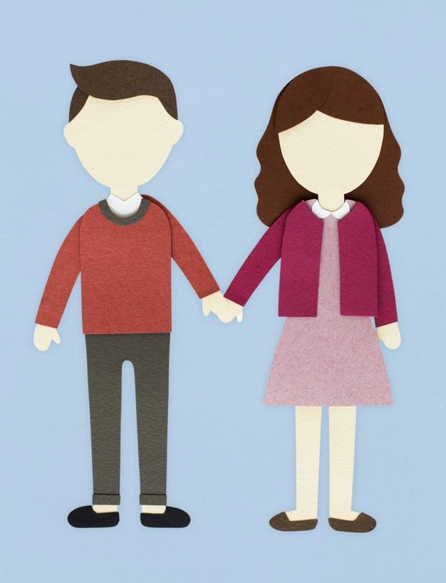 Human Couple Paper Craft