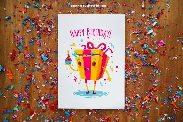 Fun Birthday Party Flyer Plus Confetti