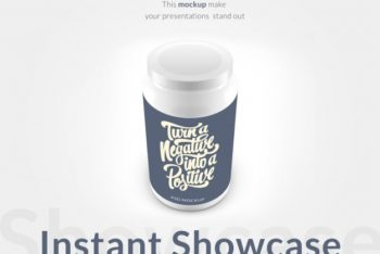 Free Pills Bottle Plus Motivational Quote Mockup