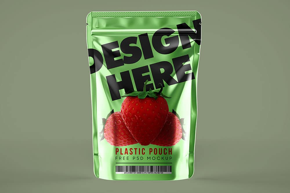 plastic pouch mockup free psd