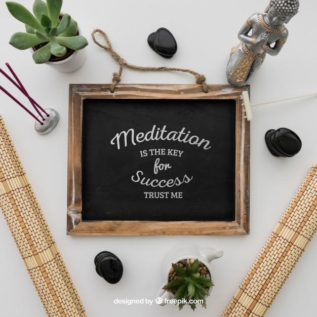 Chalkboard Plus Meditation Message