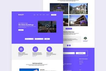 New Real Estate Themed Website PSD Mockup for Free