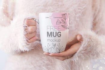 Set of Realistic Mug Mockups in PSD