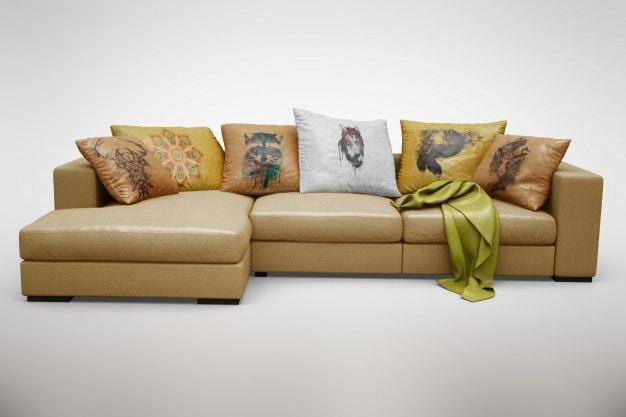Realistic Comfy Sofa