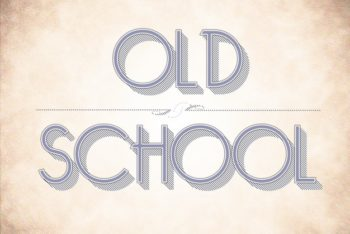 Free Thin Retro Lettering Style Mockup in PSD
