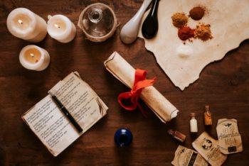 Free Retro Spices Plus Kitchen Mockup in PSD