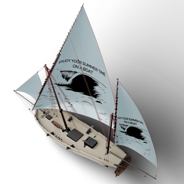 Sailing Boat Top View