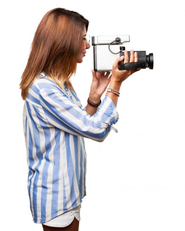 Woman Videographer Plus Camera