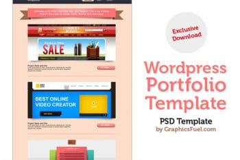 WordPress Portfolio PSD Mockup Available for Free
