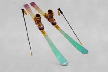 Free Professional Ski Gear Mockup in PSD