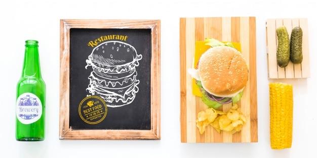 Hamburger Restaurant Slate
