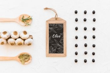 Free Black Olive Plus Slate Mockup in PSD