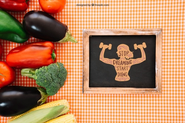 Vegetarian Food Plus Slate