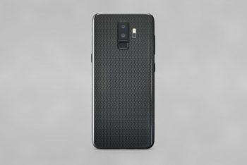 Free Smartphone Kevlar Back Mockup in PSD