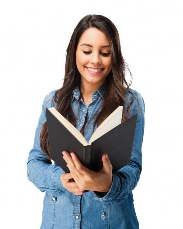 Smiling Teenager Plus Book
