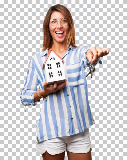 Smiling Woman Homeowner