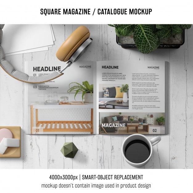 Square Magazine Plus Headphones