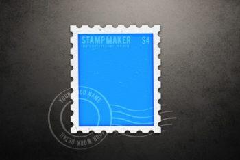 Free Letter Stamp Design Mockup in PSD
