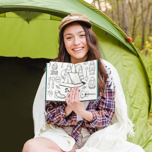 Camping Woman Plus Book