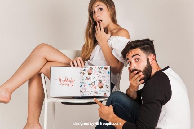 Surprised Couple Plus Wedding Plan