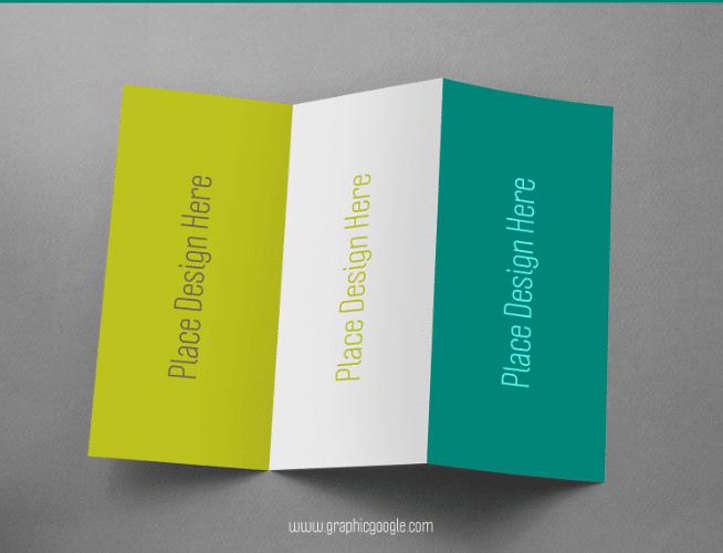 trifold brochure psd mockup free download designhooks