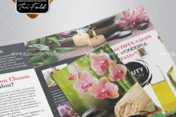 Free Tri-fold Brochure Design Mockup for Spa Promotion