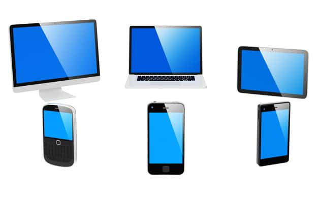 3D Electronic Devices Vector