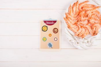 Free Traditional Shrimp Meal Mockup in PSD