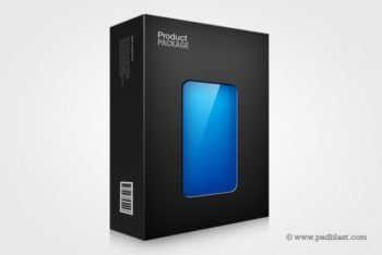Free Transparent Packaging Design Mockup in PSD