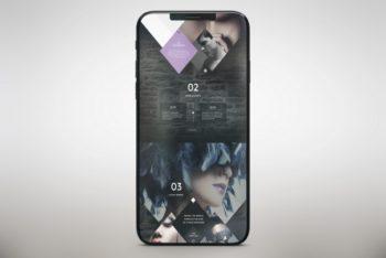 Free Modern Tiny Bezel Smartphone Mockup in PSD