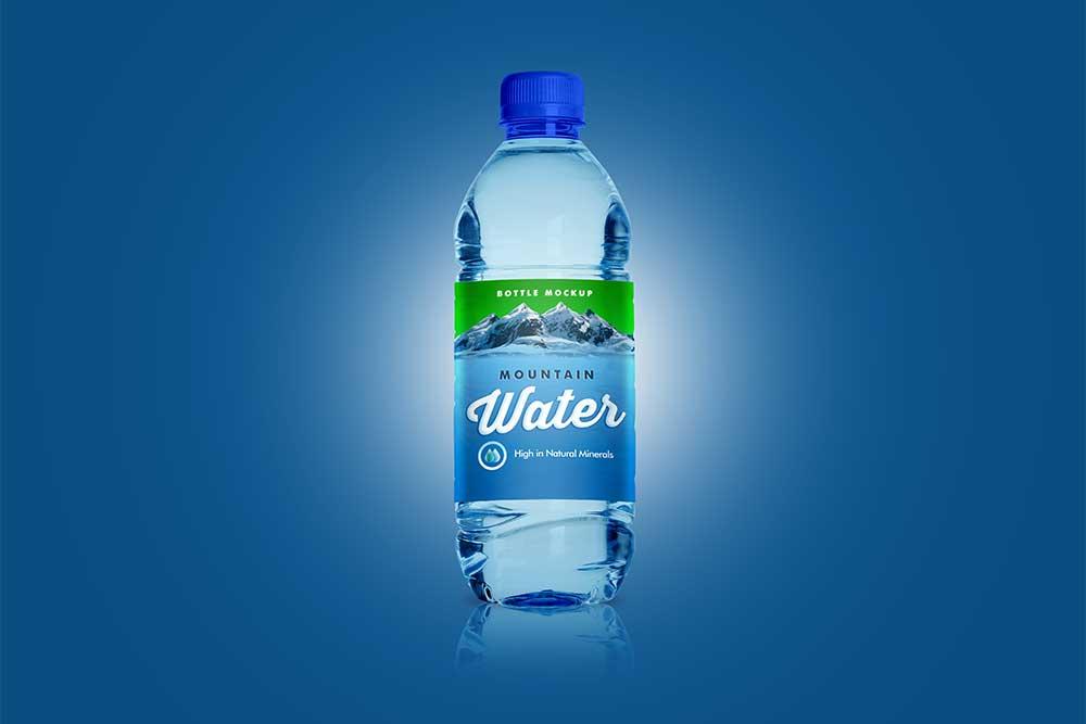water bottle mockup free psd