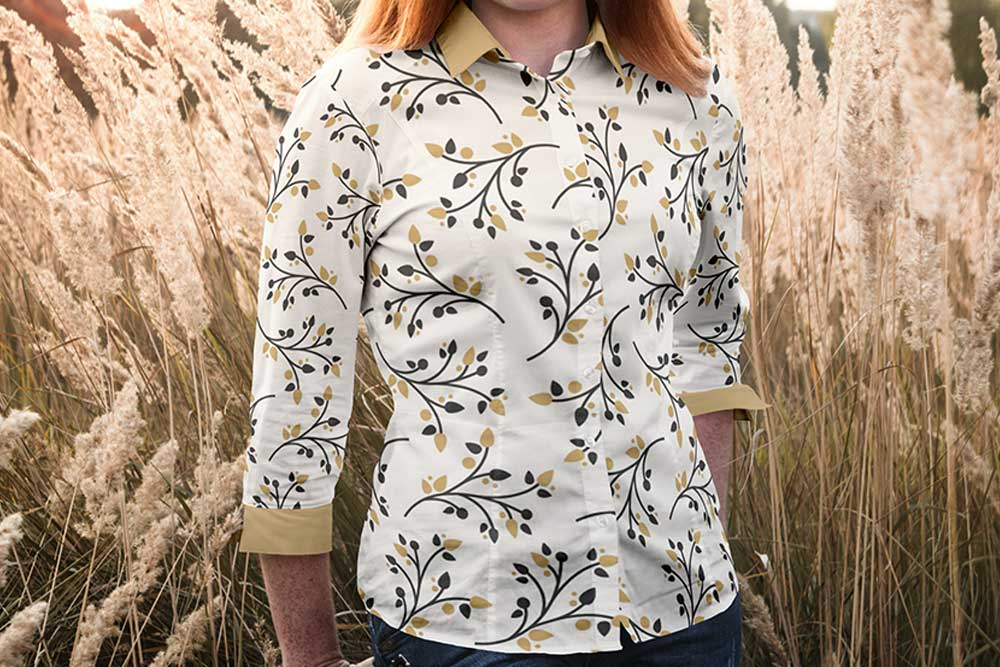 free women blouse mockup