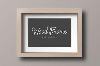Wooden Photo Frame PSD Mockup Available for Free