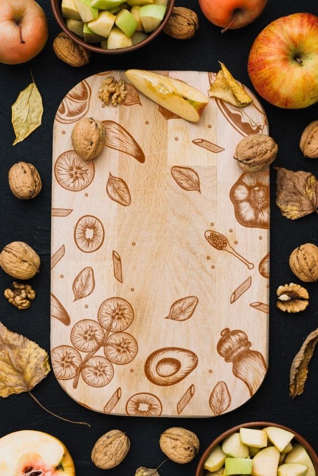 Wooden Autumn Cutting Board