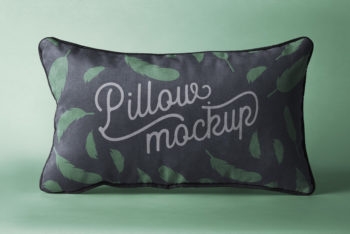 Rectangular Shaped Free Pillow Mockup – Available in Layered PSD Format