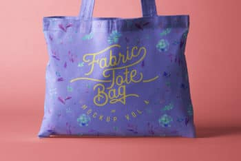 Pretty Looking Tote Bag PSD Mockup for Free