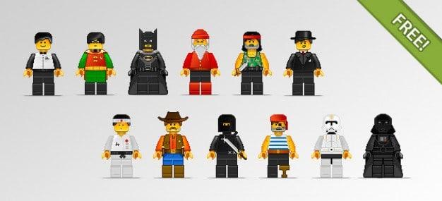Pixel Lego Characters