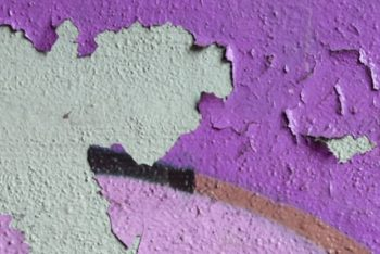 Free Old Crumbling Paint Background Mockup in PSD