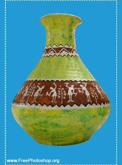 Traditional Ethnic Vase