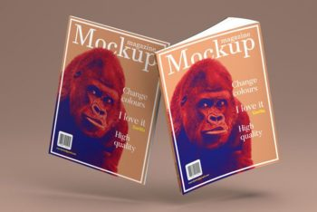 Photorealistic Magazine PSD Mockup for Free