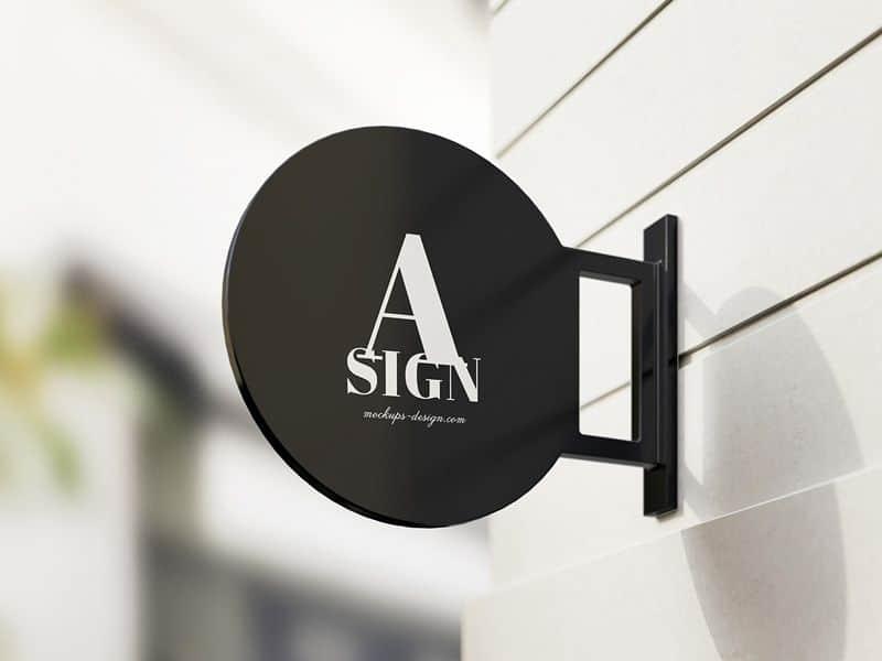 Signboard PSD Mockup Download for Free | DesignHooks