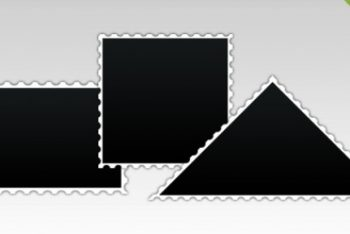 Free Various Post Stamp Designs Mockup in PSD