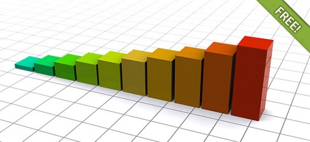 Colorful 3D Chart Infograph