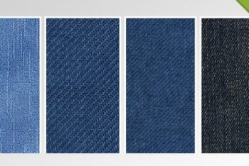Free Denim Jeans Textures Mockup in PSD