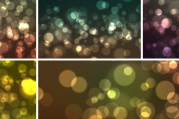 Free Bokeh Effect Background Mockup in PSD
